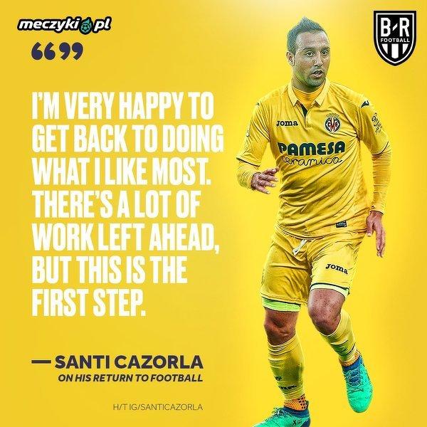 Po 636 dniach Santi Cazorla znów wybiegł na boisko