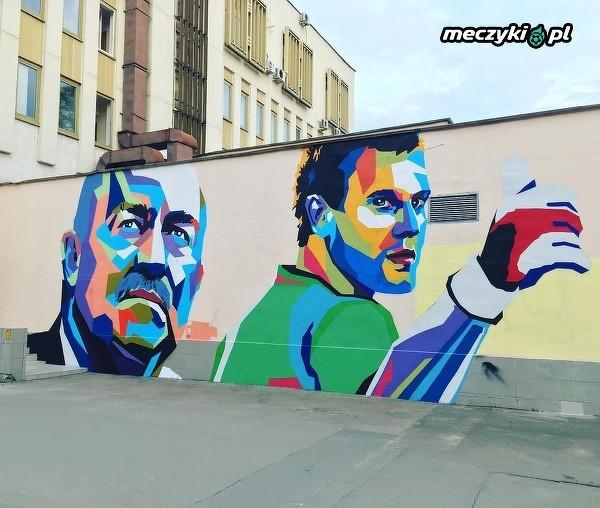 W Moskwie w pobliżu Placu Czerwonego pojawił się taki oto mural