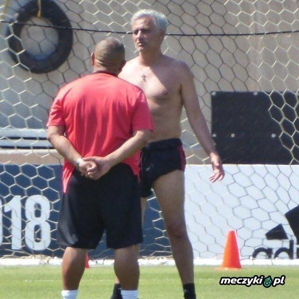 Mourinho na treningu Manchesteru United