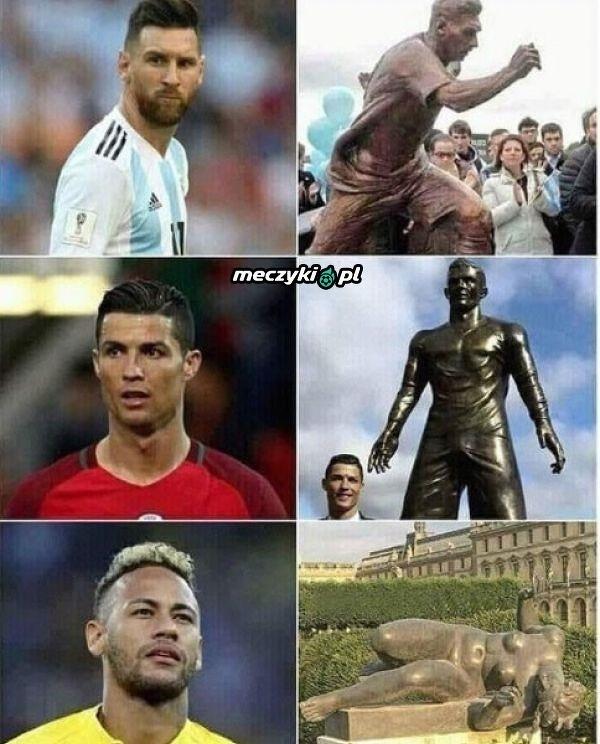 Każda gwiazda współczesnej piłki nożnej ma swój pomnik