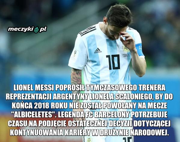 Messi żegna się z kadrą?