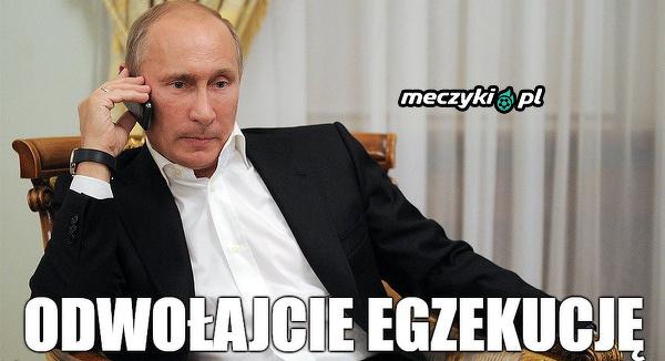 Putin dowiaduje się o wygranej Zenitu