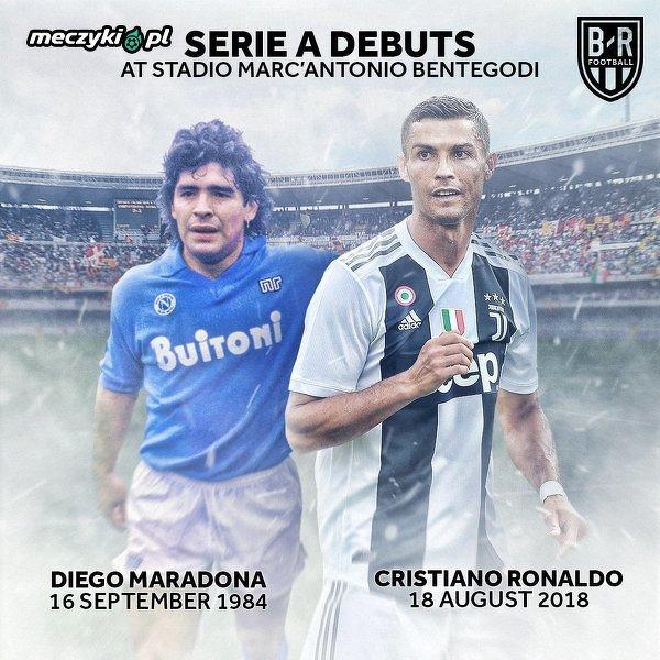 Dwie legendy debiutowały na tym samy stadionie