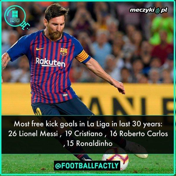 Messi najlepszy z rzutów wolnych