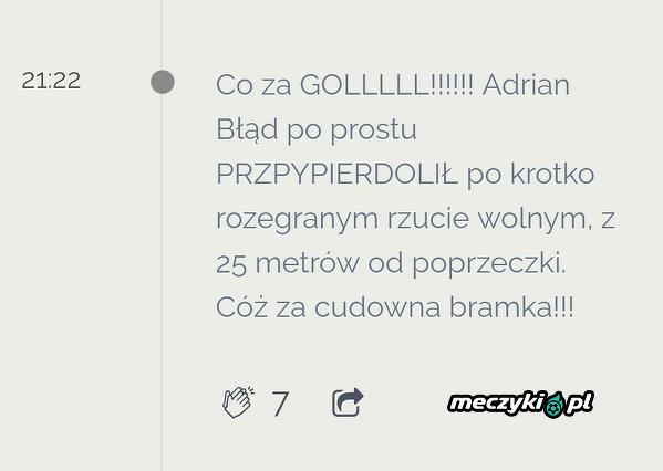 Strona GKS Katowice o golu Błąda