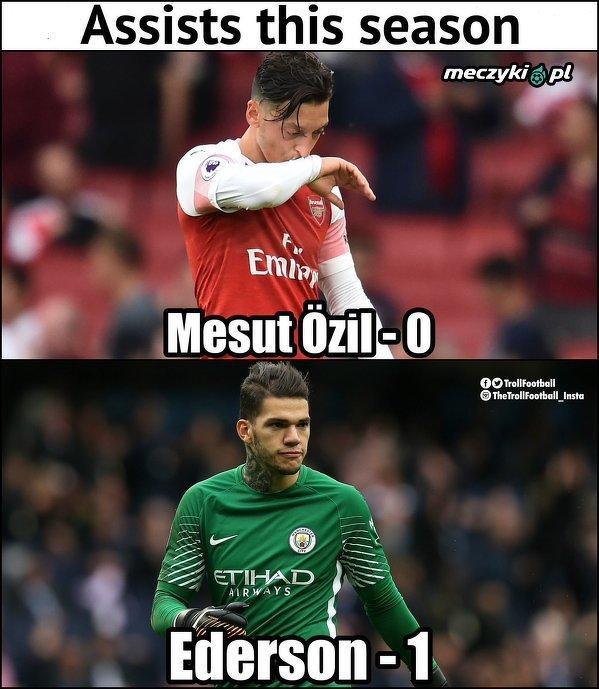 Ederson lepszy od Özila