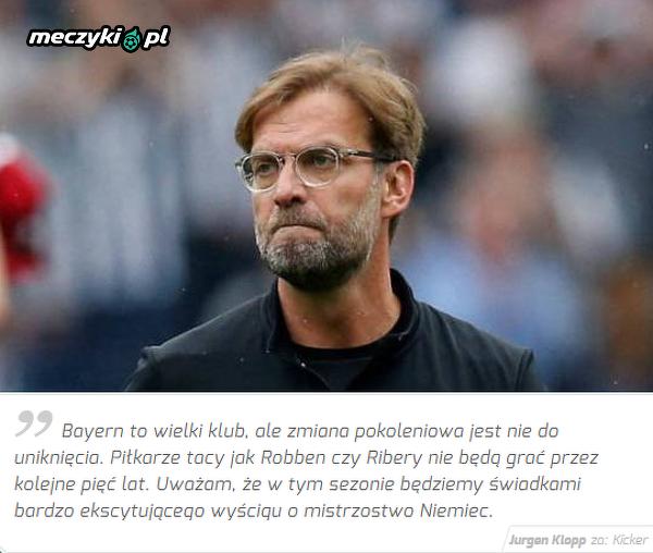 Klopp przewiduje emocjonujący sezon w Bundeslidze