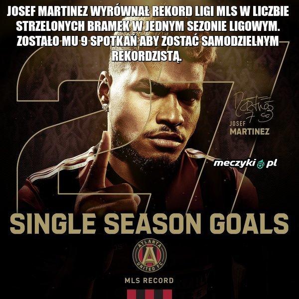 Josef Martinez na drodze do rekordu