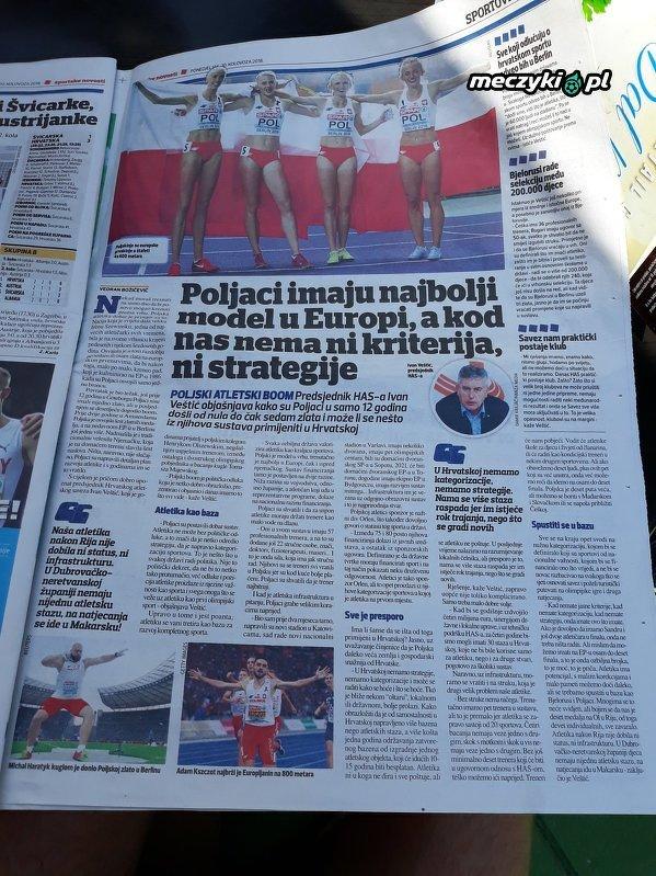 W Chorwacji chcą się uczyć od Polaków jak robić lekkoatletykę