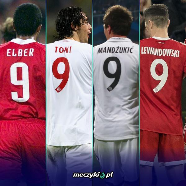 Bayern nie może narzekać na jakość swoich ''9''