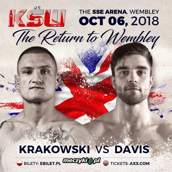 Leszek Krakowski vs Alfie Davis na KSW 45 w Londynie