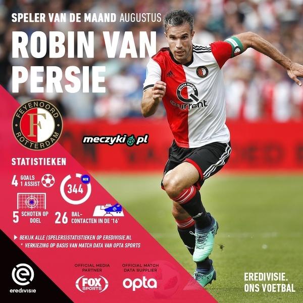 Robin van Persie zawodnikiem Sierpnia w Eredivisie