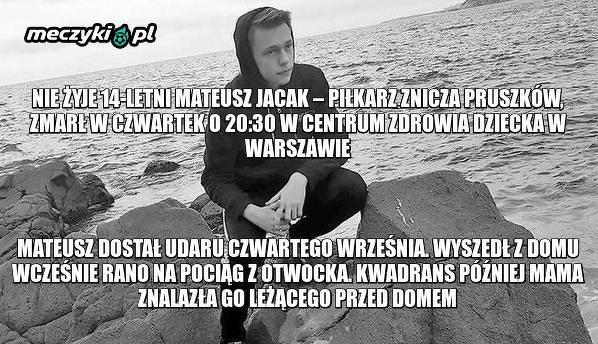 Nie żyje młody zawodnik Znicza Pruszków