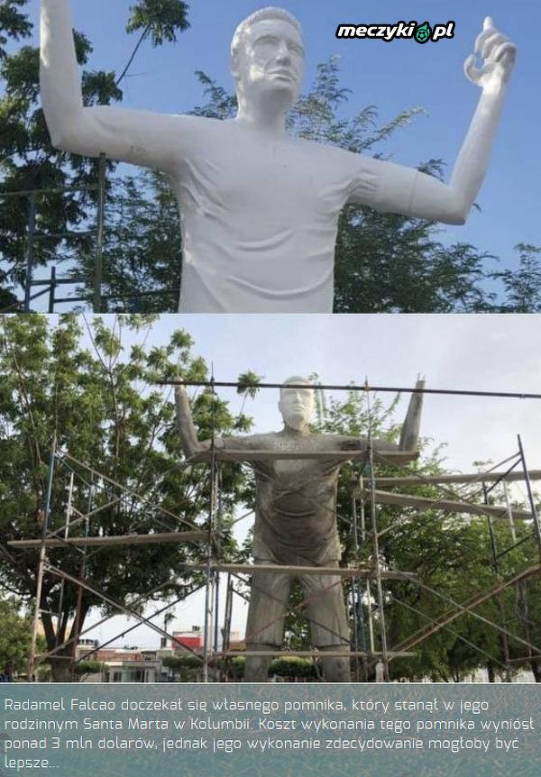 Dziwny pomnik Falcao