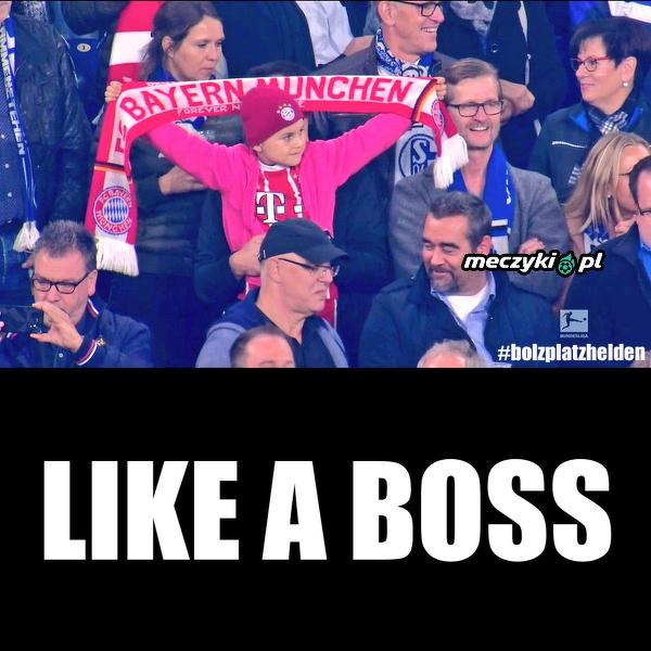 Młody kibic na meczu Schalke - Bayern