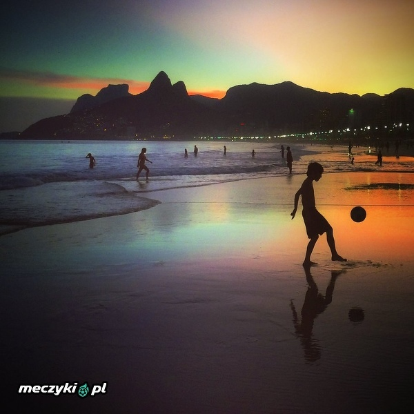Zachód słońca w Rio