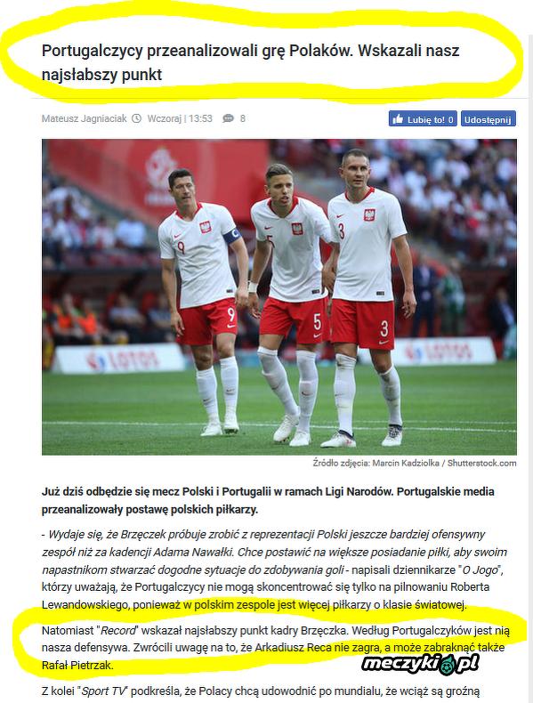 Portugalczycy już to wiedzieli przed meczem...