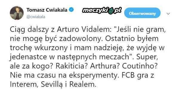 Problemy Arturo Vidala w Barcelonie