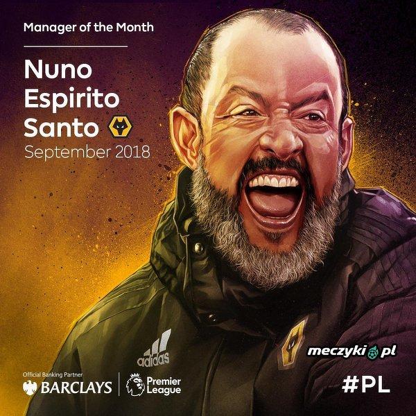 Nuno Espirito Santo trenerem miesiąca w Premier League
