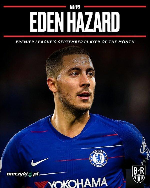 Eden Hazard piłkarzem miesiąca w Premier League