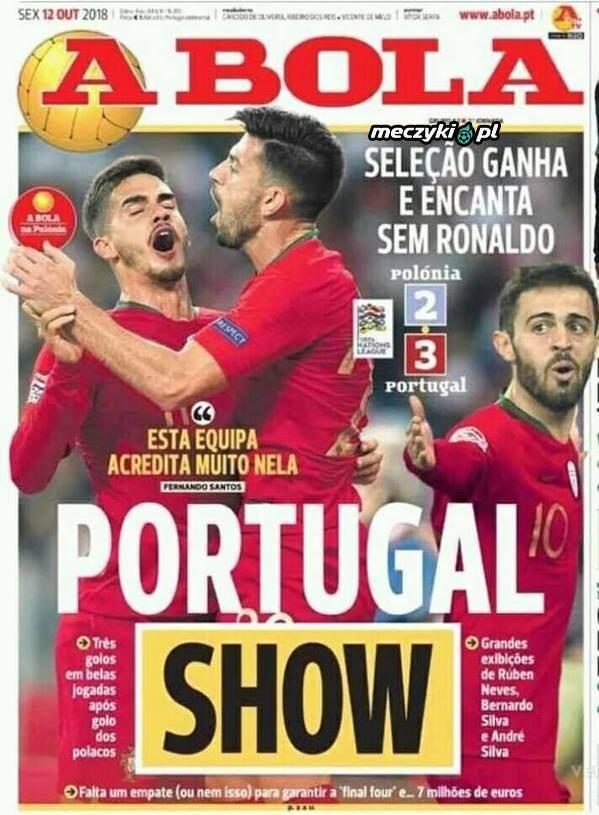 Portugalska prasa po meczu z Polską