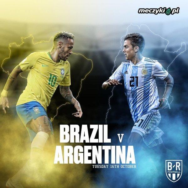 Dziś mecz Brazylia - Argentyna