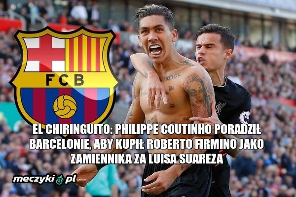 Coutinho chce Firmino w Barcelonie