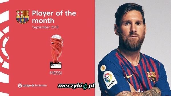 Leo Messi najlepszym zawodnikiem La Liga we wrześniu