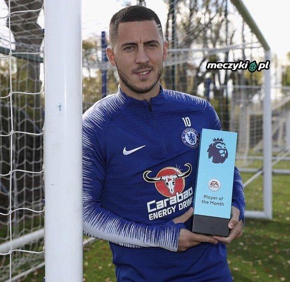 Hazard z nagrodą piłkarza miesiąca w Premier League
