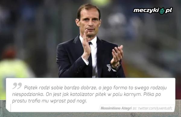 Trener Juventusu skomplementował Piątka