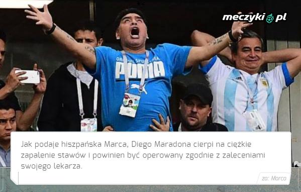 Maradona ma poważne problemy ze zdrowiem
