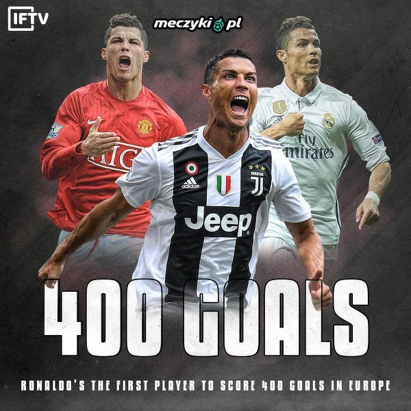 400 bramek - Ronaldo z nowym rekordem