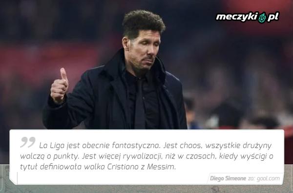 Simeone zachwycony obecnym sezonem La Liga