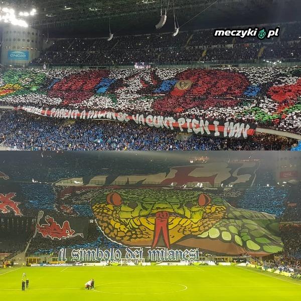 Dzisiejsze oprawy Interu i Milanu
