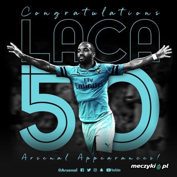 Lacazette rozegra 50. mecz w barwach Arsenalu