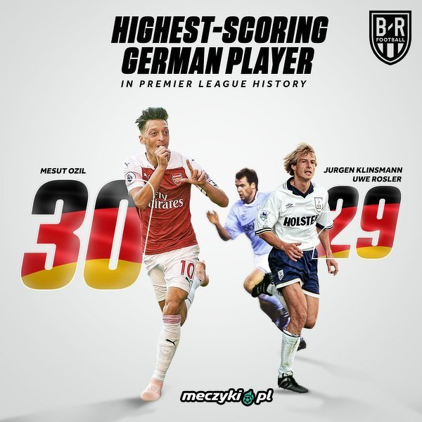 Najlepszy Niemiec w Premier League