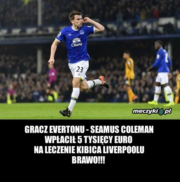 Piękny gest gracza Evertonu