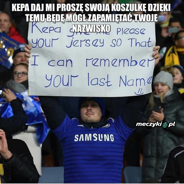 Na meczu Bate - Chelsea kibic The Blues polował na koszlkę Kepy