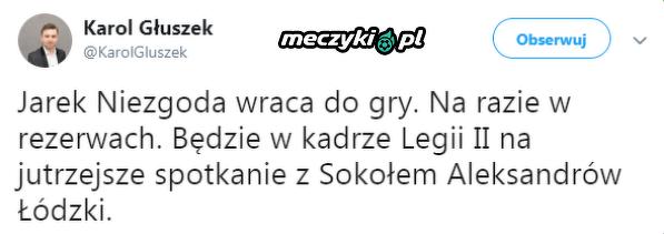 Jarosław Niezgoda wraca po kontuzji