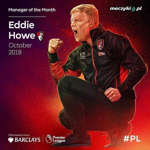 Eddie Howe menedżerem miesiąca w Premier League