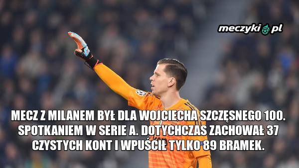 Jubileuszowy mecz Wojciecha Szczęsnego w Serie A