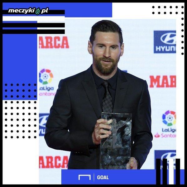 Messi z nagrodą dla najlepszego piłkarza roku w La Liga