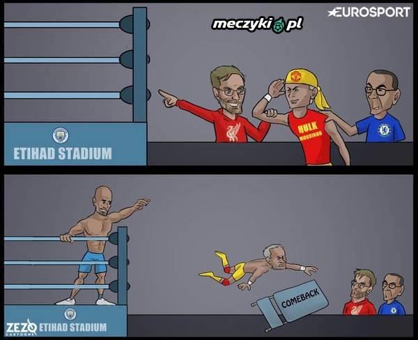 Wczorajsze derby Manchesteru na jednym obrazku