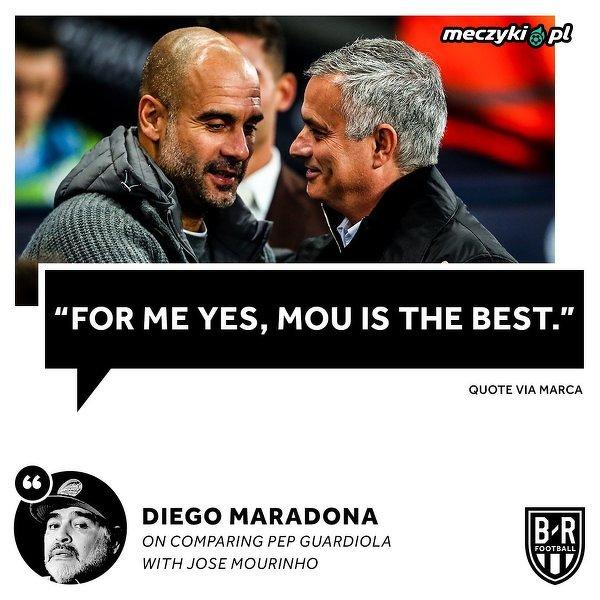 Maradona porównał Guardiolę i Mourinho