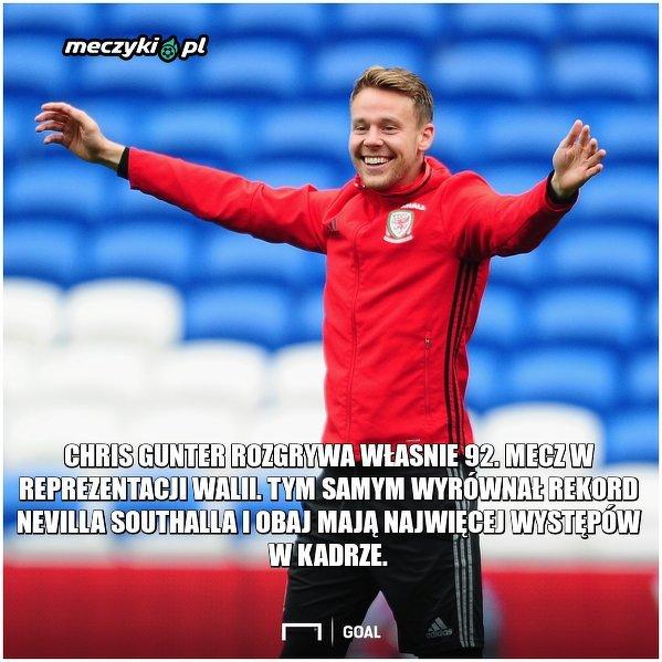 Chris Gunter przeszedł do historii walijskiej piłki