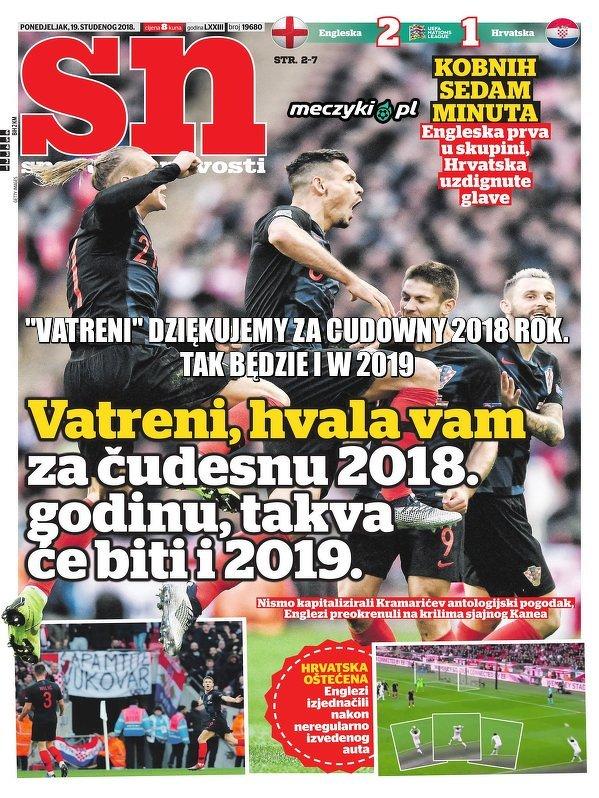 Mimo porażki z Anglią, chorwacka prasa dziękuje reprezentacji