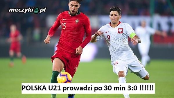 Polska U21 prowadzi z Portugalią!