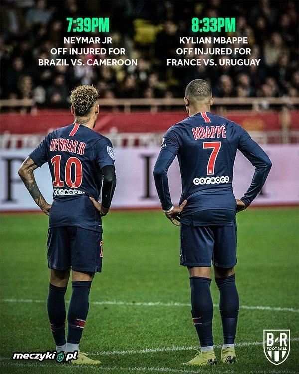 Neymar i Mbappe zakończyli swoje mecze z kontuzjami