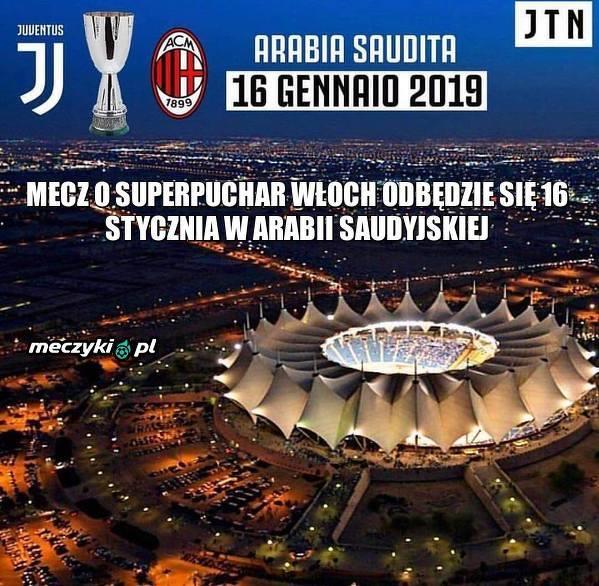 Nietypowe miejsce rozegrania Superpucharu Włoch