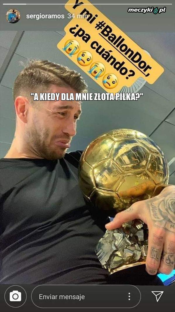 Sergio Ramos zażartował sobie na Instagramie